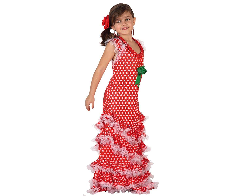 Disfraz de Sevillana Rojo para niñas