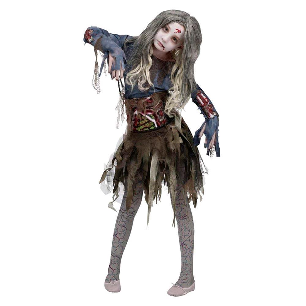 Disfraz De Halloween Zombie Para Niñas Talla Grande 12 14 Años