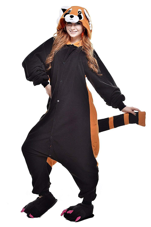 Pijama Animal Entero Unisex para Adultos Niños con Capucha Ropa de Dormir Traje de Disfraz para Festival de Carnaval Halloween Navidad