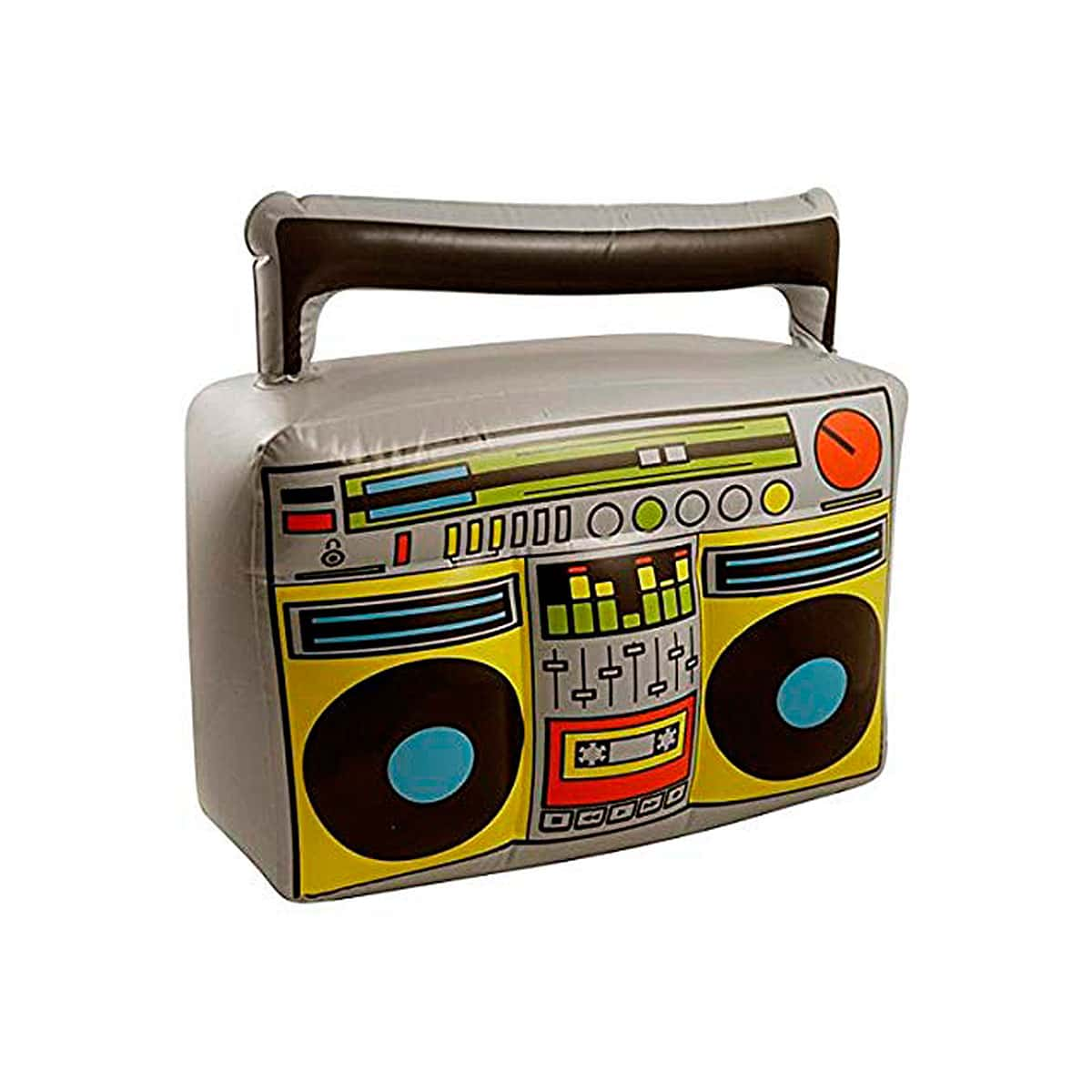 Radiocasete Boom Box para disfraces de los años 80 - Hinchable