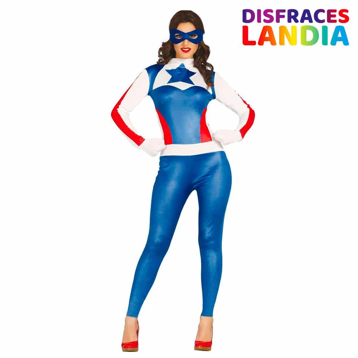 Disfraz Superstar Capitan América Mujer