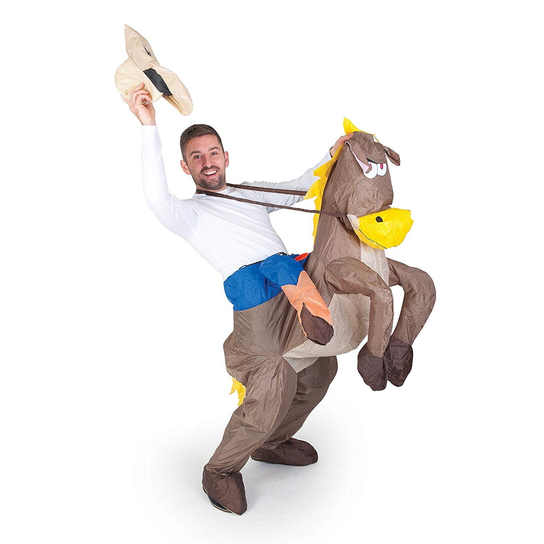 Disfraz de Cowboy con Caballo Hinchable