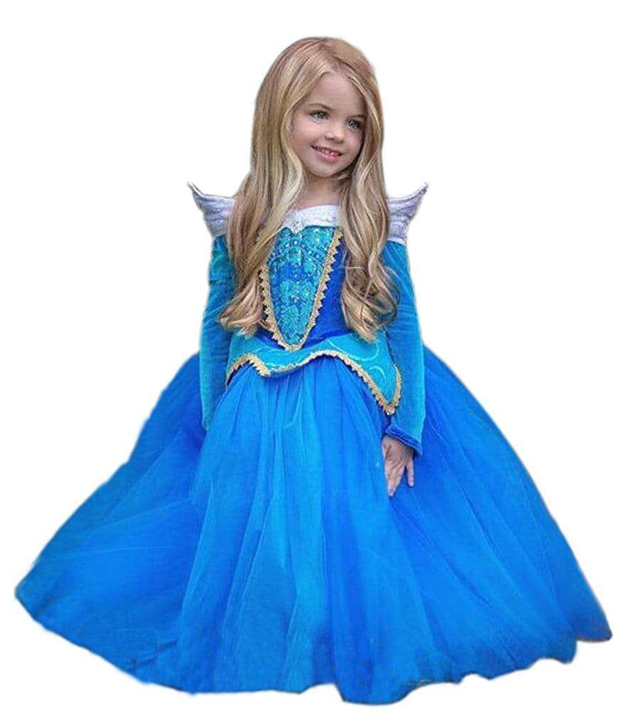 Disfraz Princesa Aurora Azul
