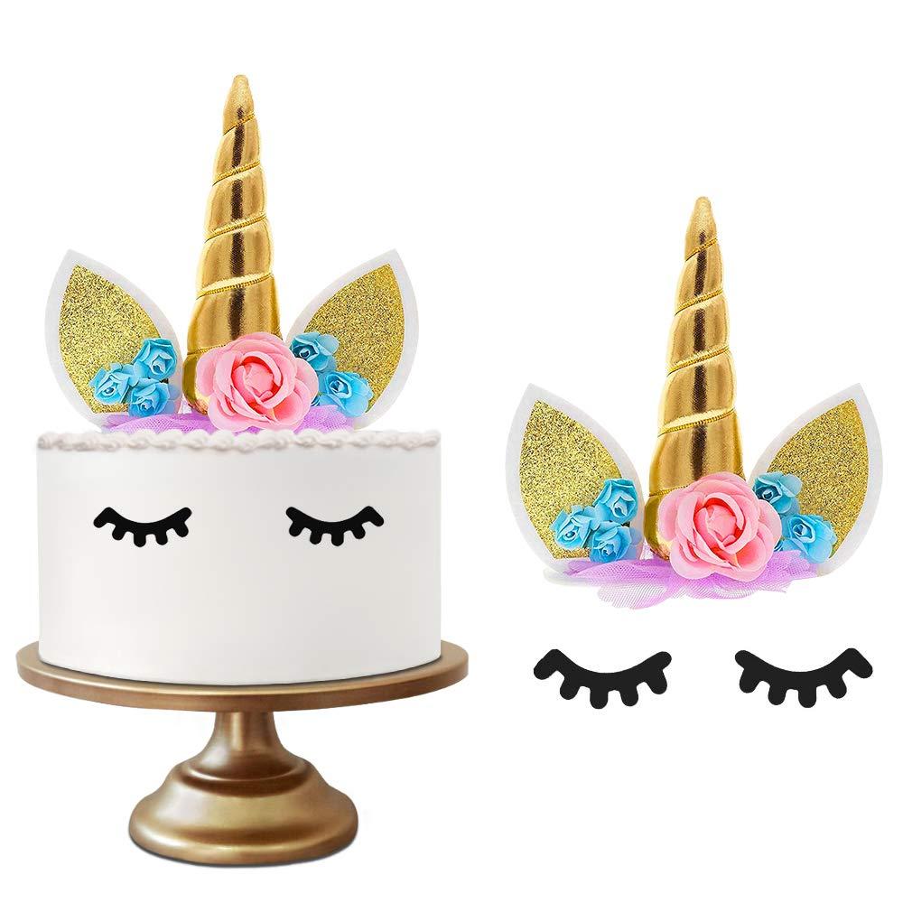 Artículos Para Fiestas 48 Piezas De Cake Topper De Unicornio