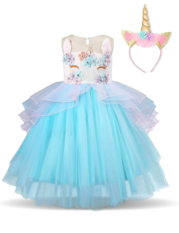 Disfraz Vestido Unicornio Princesa Cumpleaños Cosplay