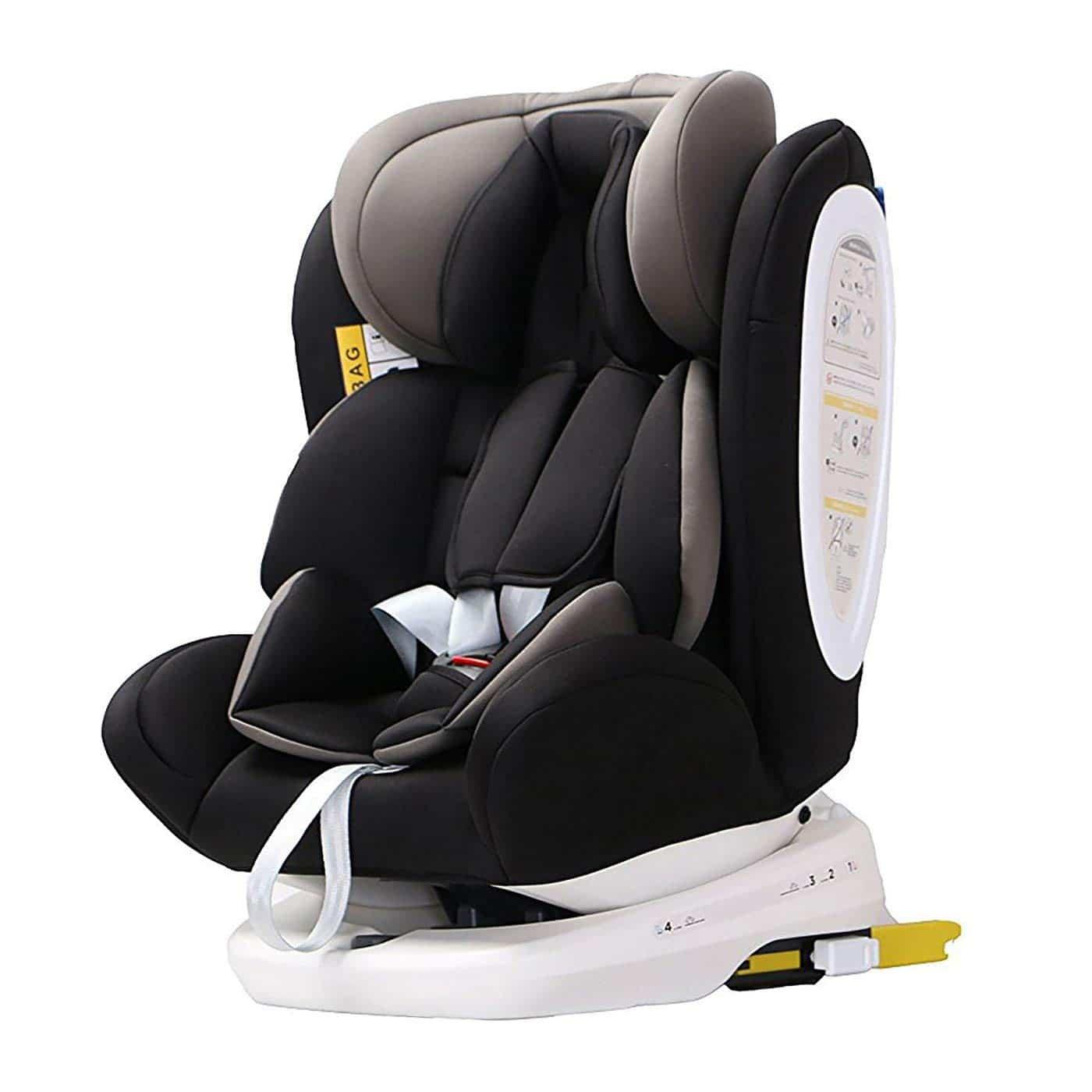 silla de coche grupo 0 1 2 3 isofix rotaci n 360 negro