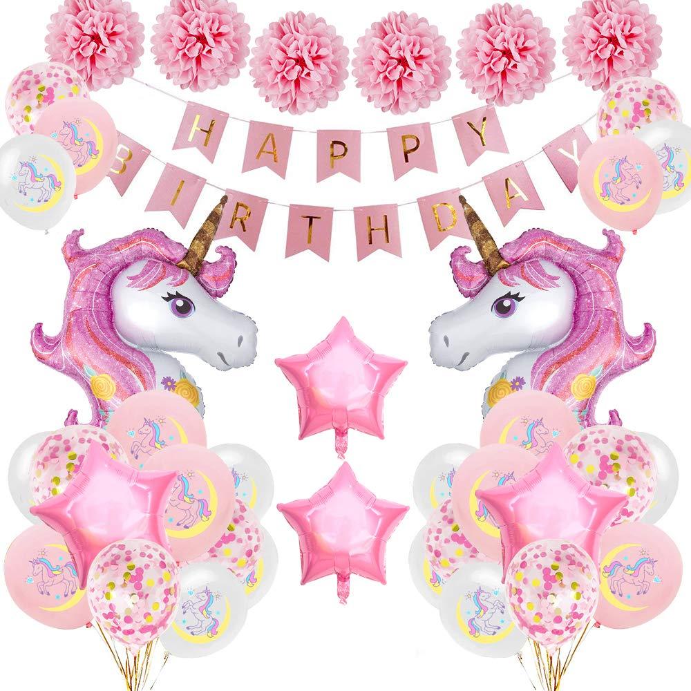 Unicornio Decoración de cumpleaños para niña