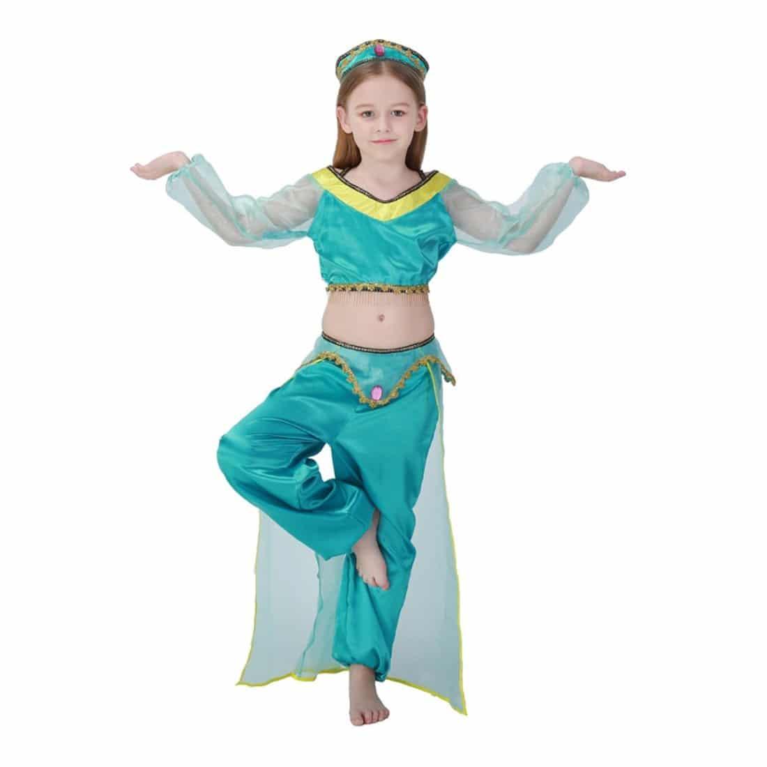 Disfraz de Princesa Árabe Danza Vientre Infantil Niñas