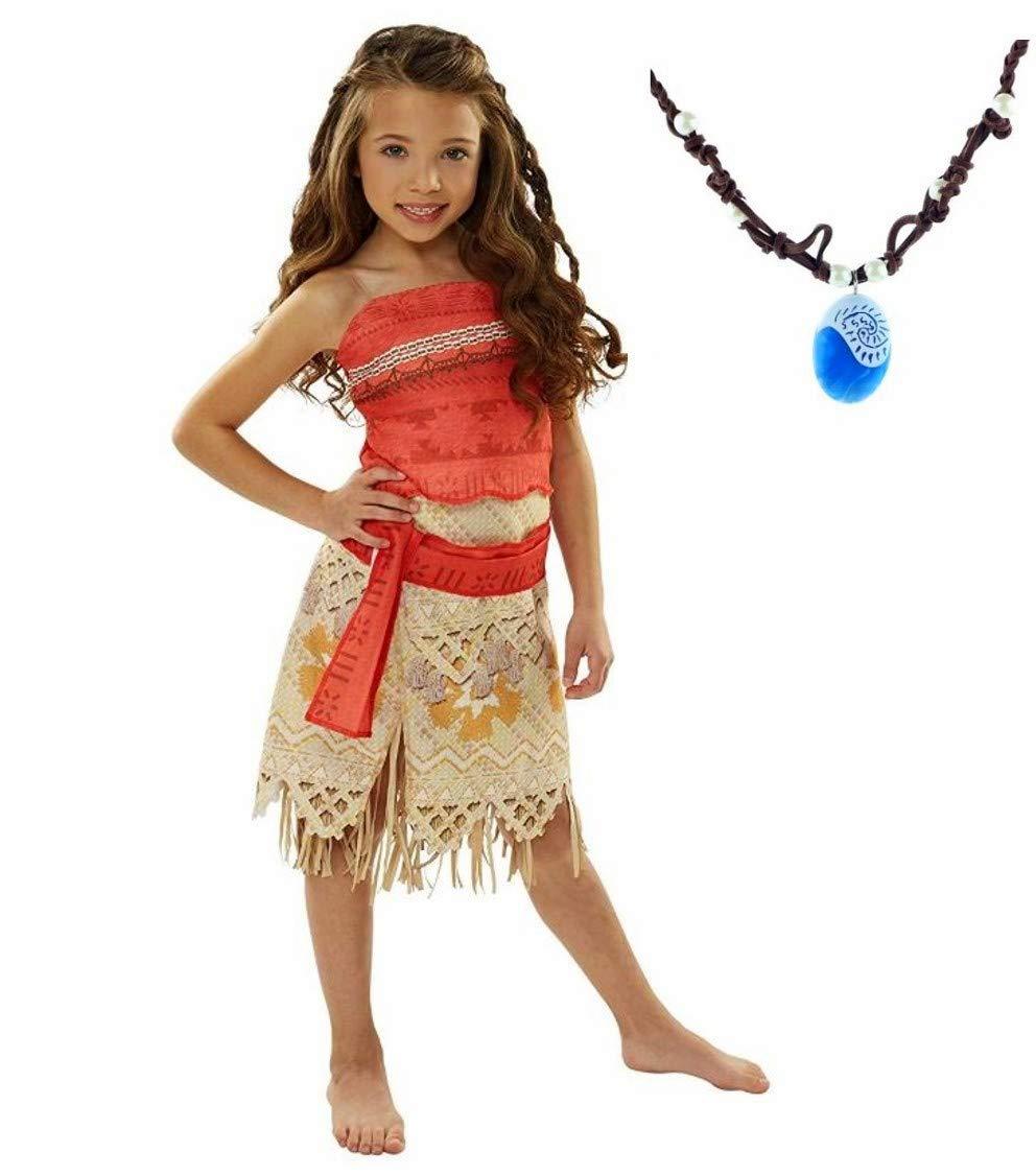 disfraz princesa La Señorita Vaiana Moana para niña Collar Vaiana