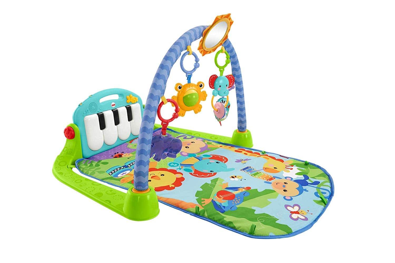 Fisher-Price Gimnasio-piano pataditas, manta de juego para bebé