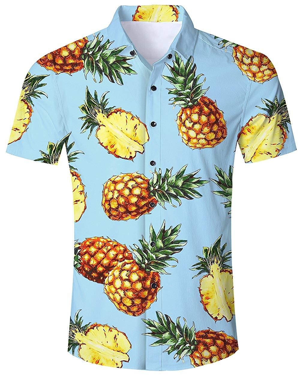 f859549f8c42 Camisa Hawaiana para Hombre Mujer Casual Manga Corta Camisas Playa Verano  Unisex 3D Estampada Funny Hawaii