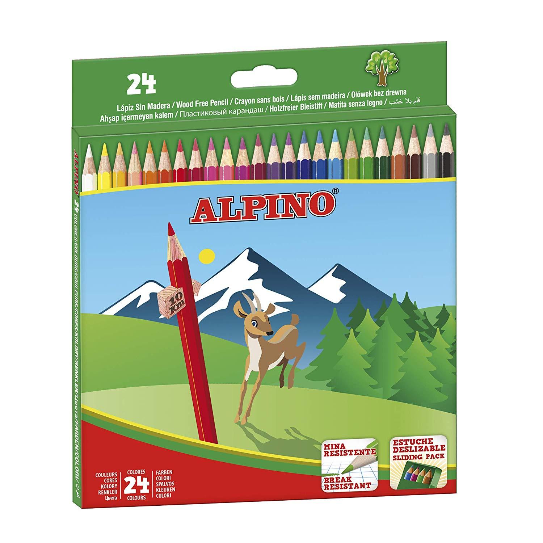 Alpino-Estuche 24 lápices, multicolor