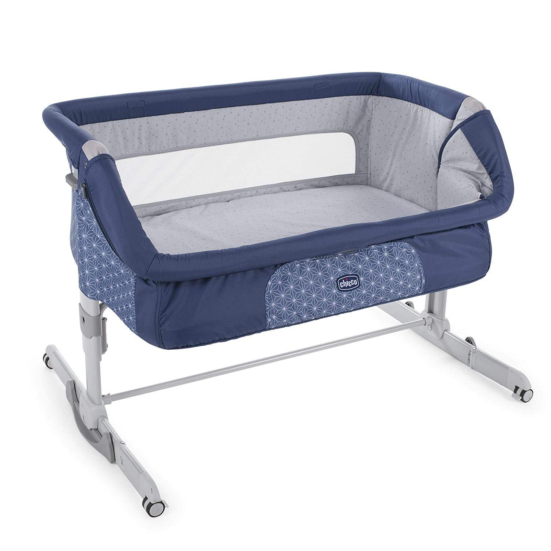 Chicco Next 2 Me Dream - Cuna de colecho con anclaje a cama, balancín y 11 alturas - Varios colores Azul Navy y Gris