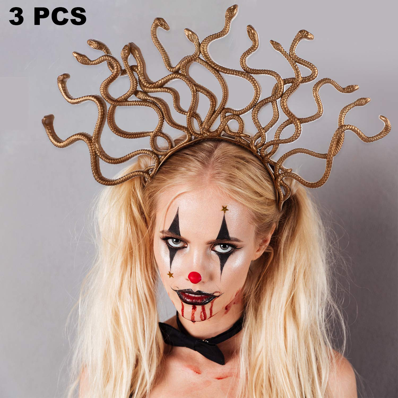 Diadema Medusa Disfraz Halloween 3 piezas