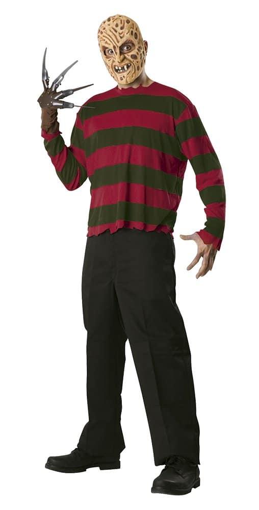 Disfraz de Freddy Krueger para adulto, camisa, máscara y guante Rubies
