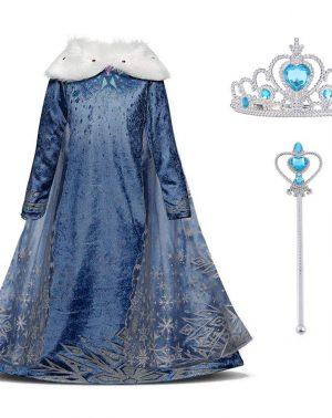 Disfraz de Princesa Frozen Elsa - Vestido Nieve Fiesta Cumpleaños Navidad Halloween Traje Fiesta