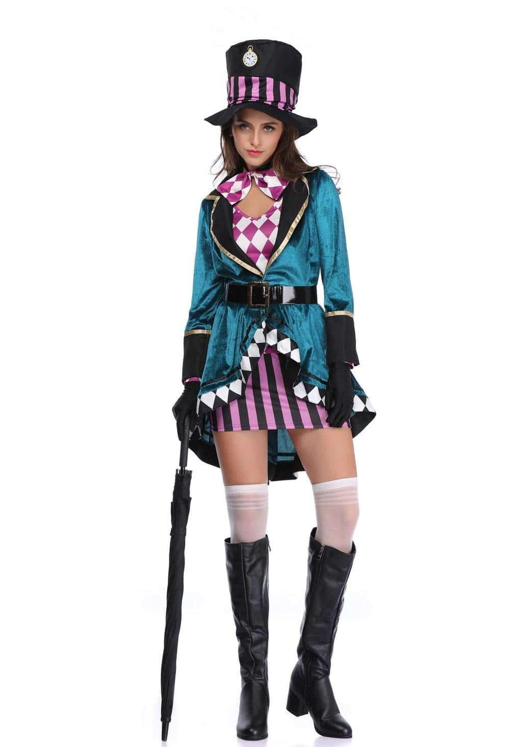 Alicia en el País de Las Maravillas Damas - Conjunto de Disfraces Carnaval y Cosplay - 3 tamaños Diferentes Thematys