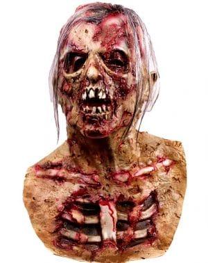 Máscara de Cabeza Muerta de Walking Dead, máscara de Monstruo Malvado residente, máscara de látex de Goma para Fiesta de Disfraces de Zombie para Halloween