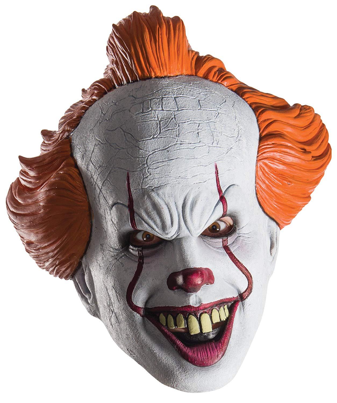 Máscara de Pennywise para adulto, Payasos Siniestros Accesorios Halloween Disfraz, vinilo - Talla única Rubies 34718