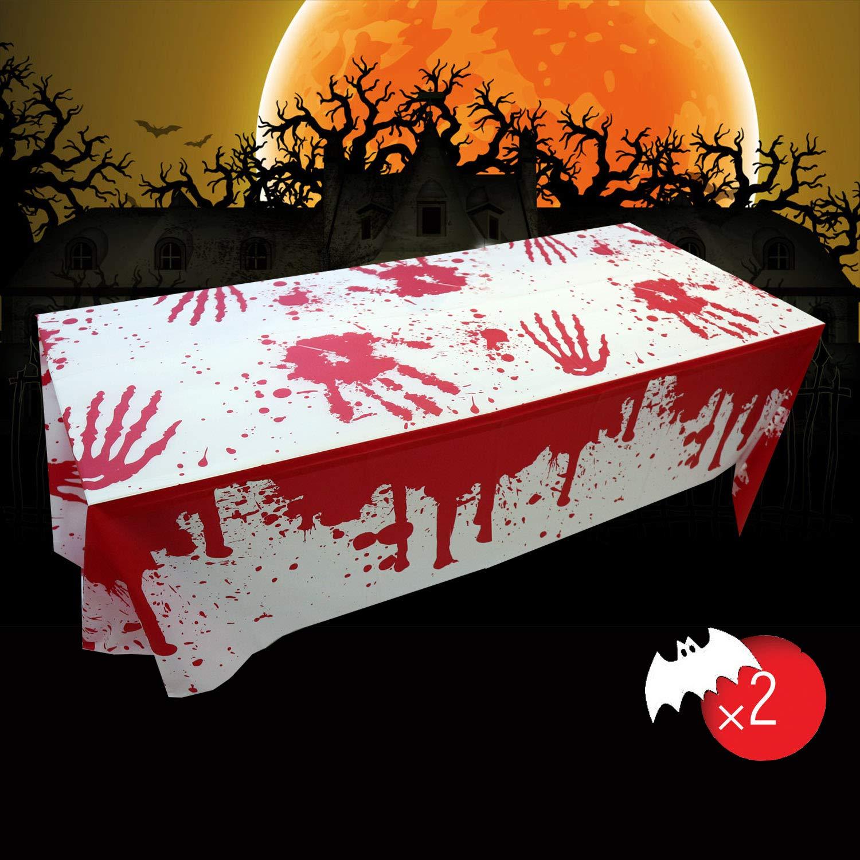 Mantel de halloween, Manteles de sangre de Halloween, Mantel sangriento espeluznante, Decoración de fiesta de Halloween Mantel sangriento