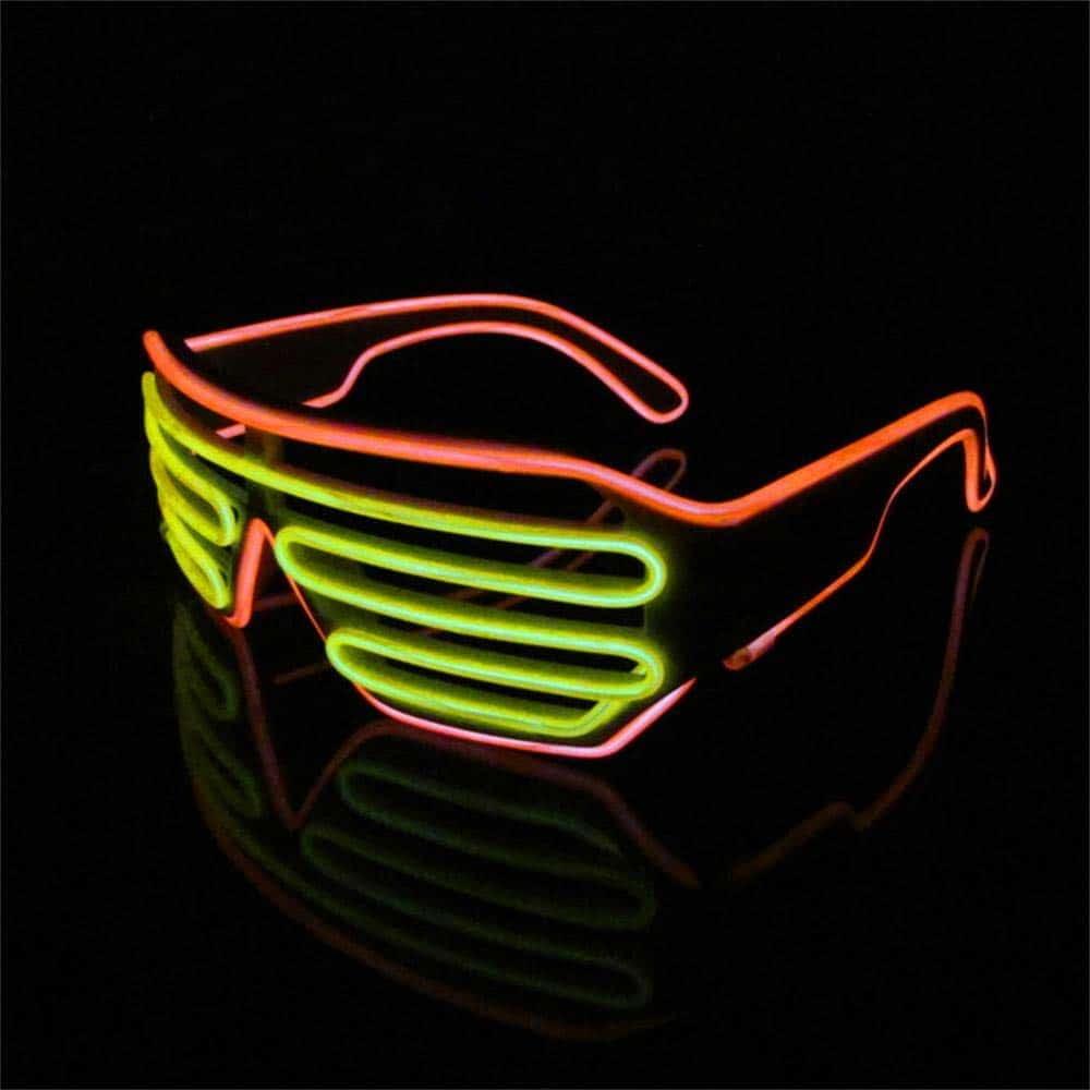 Gafas Led 2 Colores - Luz de Neón Originales Divertidas - Ritmo música