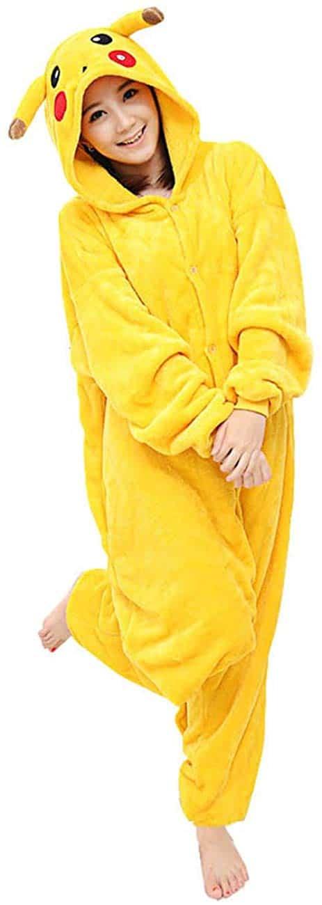 Pijama Traje de Dormir Cosplay Pijamas Franela Animales Chinchilla Amarillo
