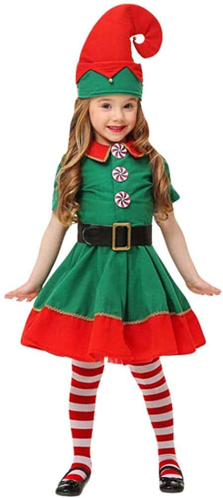 Disfraz de Elfo Niños Infantil - Disfraz de Duende de Navidad