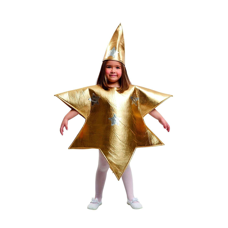 Disfraz de Estrella Navidad para niña - Color Dorado - Varias Tallas - My Other Me 204393