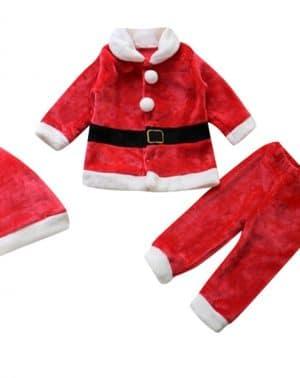 Disfraz Traje Papa Noel para Bebé -- Sombrero + Capa + pantalón