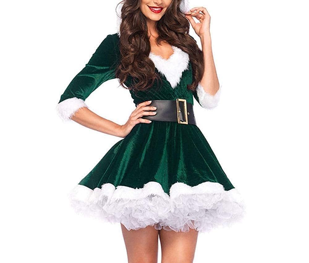 disfraz de mama noel mujer vestido terciopelo princesa traje de santa fiesta chicas cosplay christmas ropa de navidad