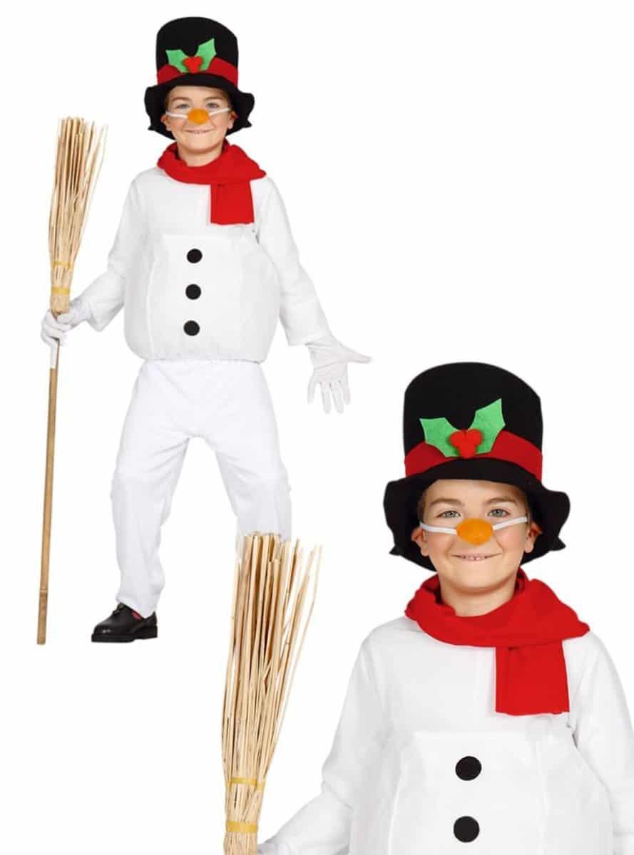 Disfraz de Muñeco de Nieve Infantil - Varias Tallas