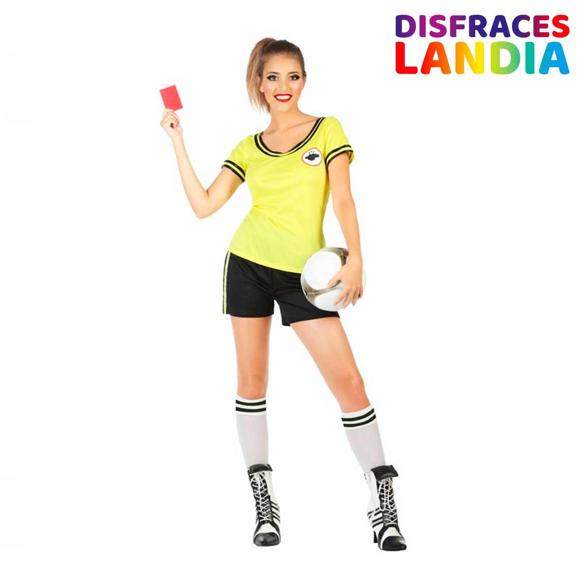 Disfraz Árbitro Mujer Color Amarillo - Atosa