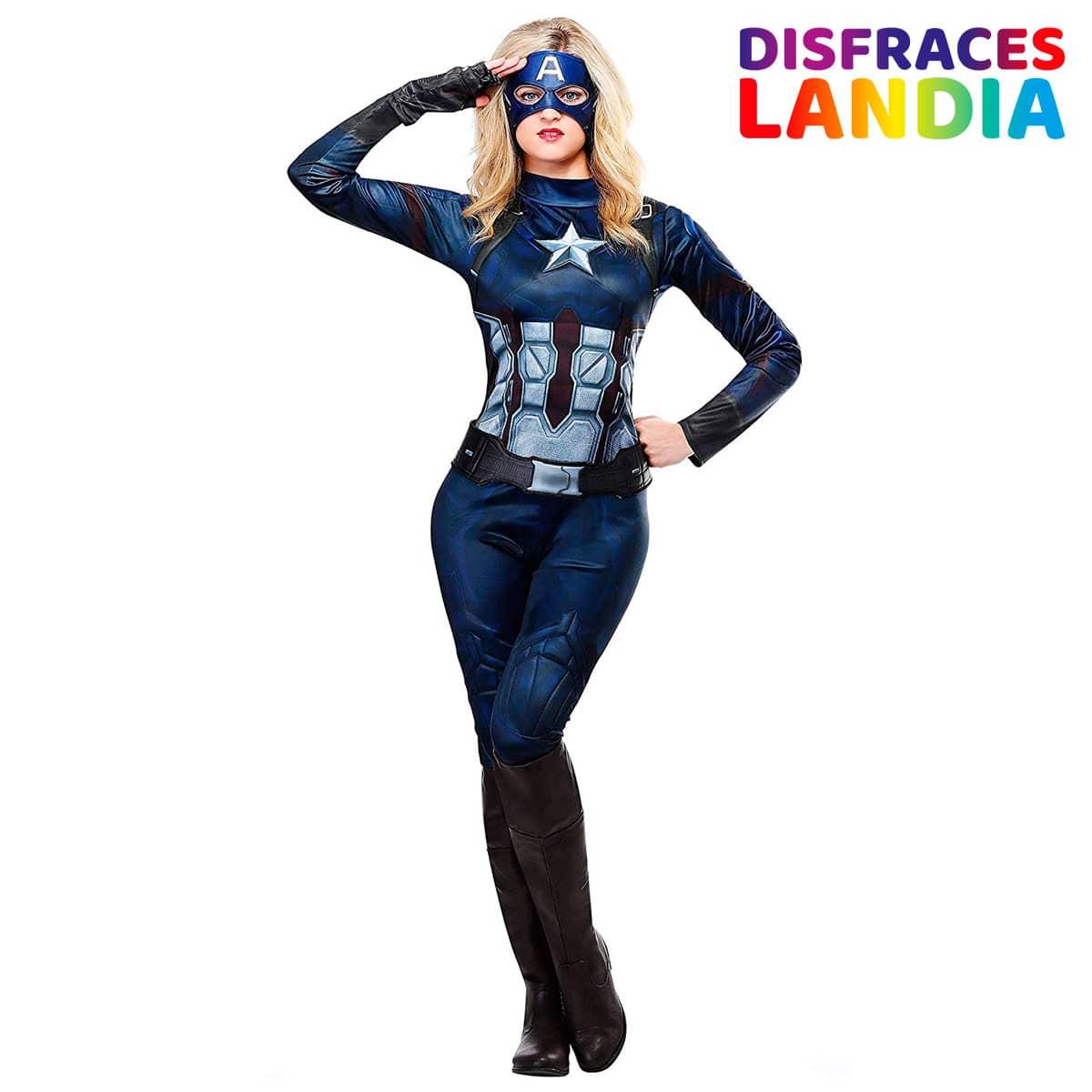 Disfraz de Capitana America para Mujer Deluxe