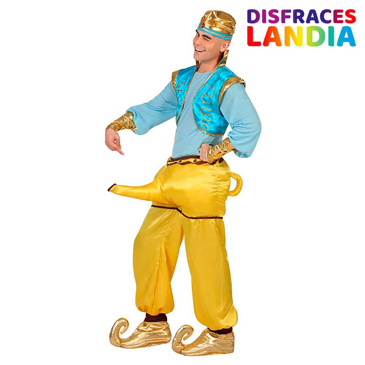 Disfraz Aladino Genio Lámpara - Original Divertido