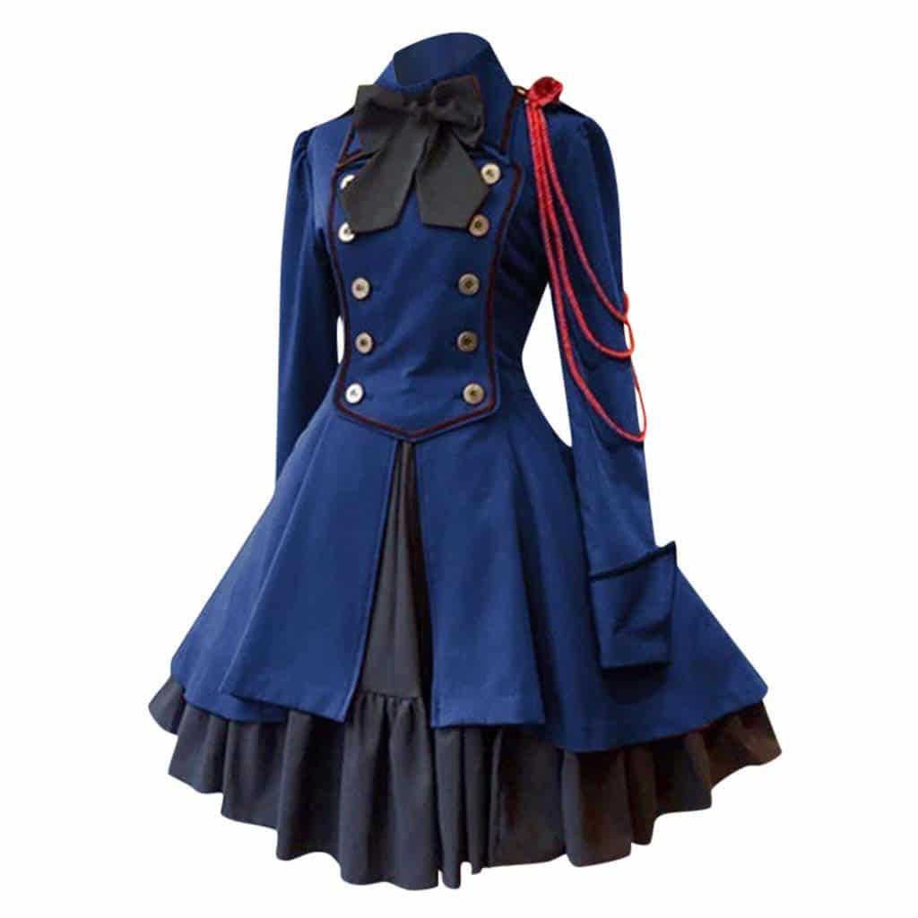 Disfraz Medieval Retro Vintage Mujer Azul