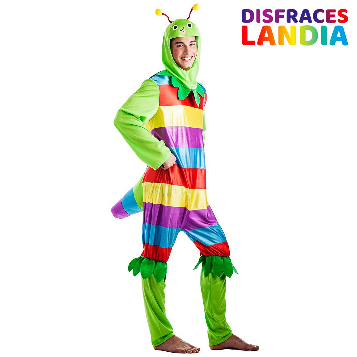 disfraz de gusano gusanito multicolor