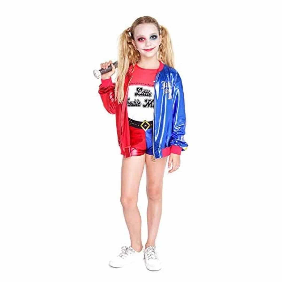 Disfraz de Joker para Niña Infantil Carnaval - Harley Quinn Varias Tallas