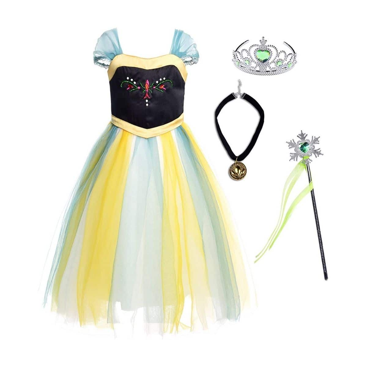 Niña Princesa Anna Disfraz Fiesta de Cosplay Vestido