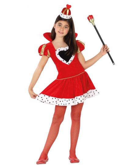 Disfraz de Reina de Corazones Roja para niña - Atosa