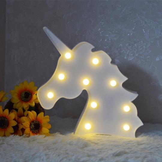 Dulce Unicornio LED Lámparas Decoración