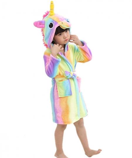Albornoz Infantiles - Disfraz de Unicornio - Ropa De Dormir con Capucha - Batas Niños Niña