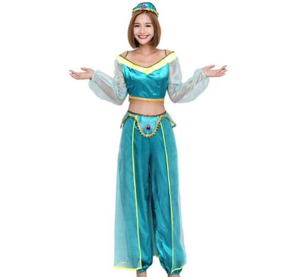 Disfraz de Princesa Arabe Bailarina Cosplay