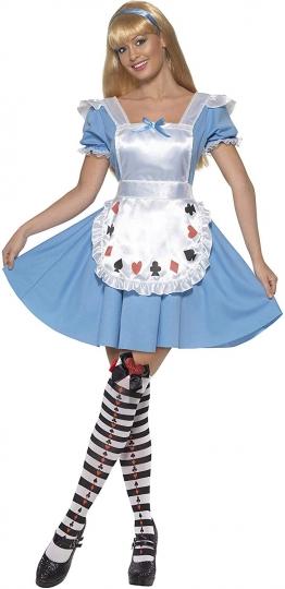 Disfraz de Alicia Baraja de Cartas - Vestido Azul - Smiffys-39474S