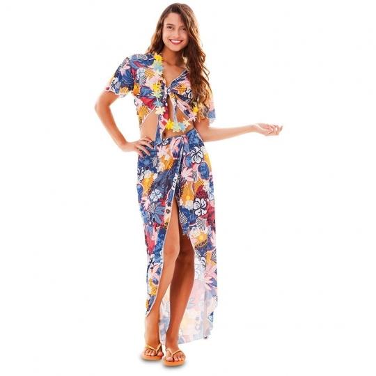 Disfraz de chica hawaiana