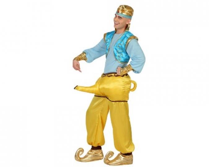Disfraz Genio Aladino Aladdin Dorado, XL Atosa 23007