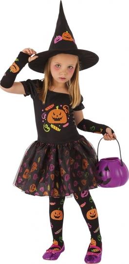 Disfraz infantil bruja Candy, Multicolor, Rubies S8349