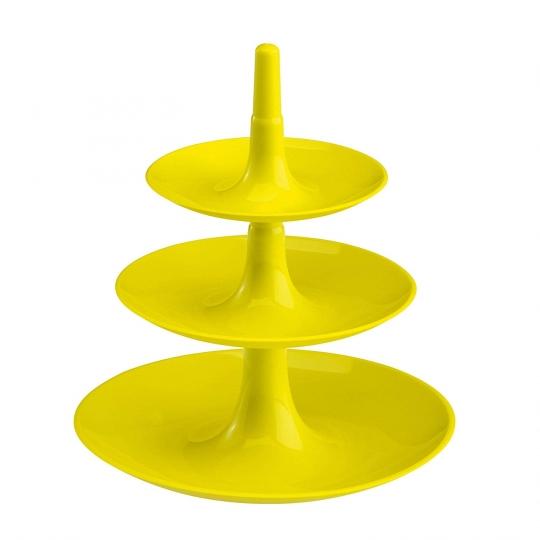 Frutero de 3 pisos Desmontable Color Mostaza – Decoración centro mesa