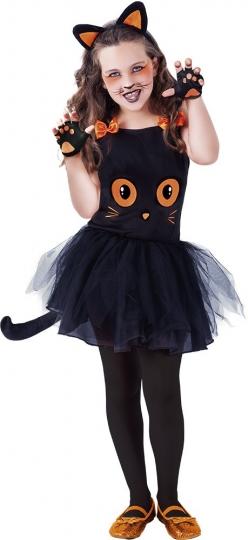Rubies- Disfraz infantil de Gatita Tutu Halloween Color negro Rubies S8410