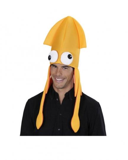 Sombrero Calamar Pulpo naranja