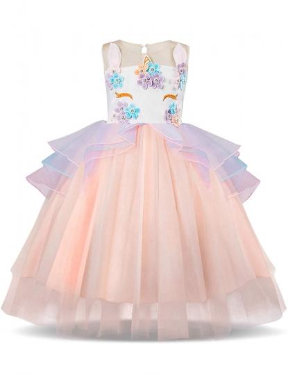 Disfraz Vestido Unicornio Princesa - Fiesta Boda Cumpleaños Cosplay